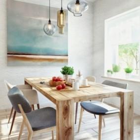 Кухонный стол из досок в лофт стиле
