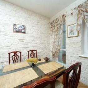 Фактурная отделка кухонных стен