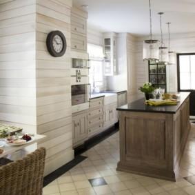 Натуральное дерево в декоре кухонного пространства