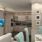 Аквариум в интерьере современной кухни