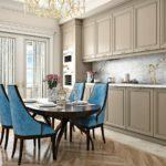 Кухонные стулья с бирюзовой обивкой