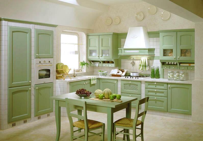 Угловая кухня в восточном стиле