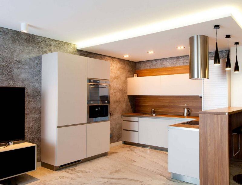 Кухонный гарнитур П-образной конфигурации