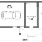 Проект летней кухни с гаражом