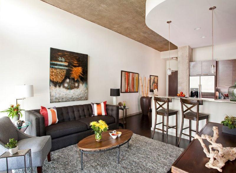 Грамотная планировка кухни-гостиной площадью 16 кв метров