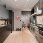 Параллельная планировка прямоугольной кухни