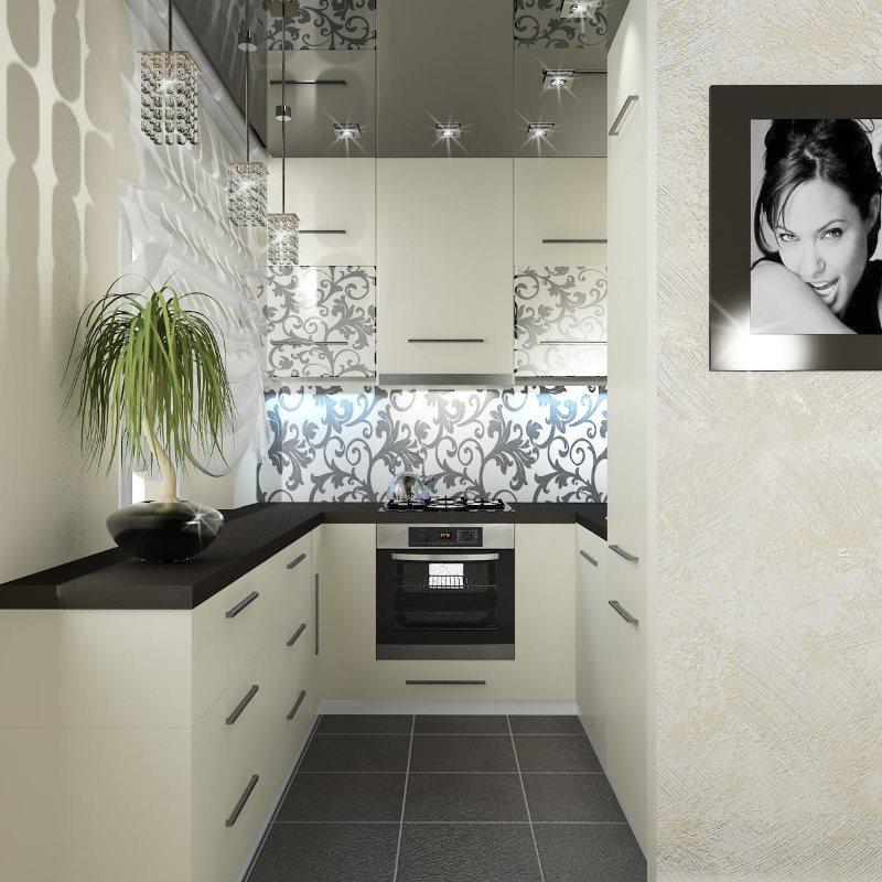 Светлые фасады современного кухонного гарнитура