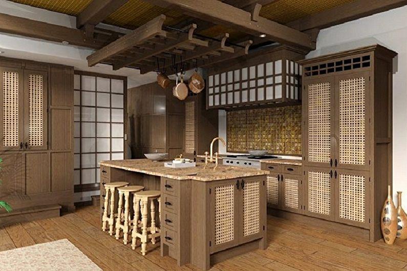 Кухня с мебелью в японском стиле