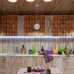 Дизайн рабочей зоны закрытой летней кухни