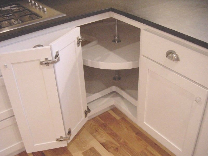 Складная дверца на угловом модуле кухонного гарнитура