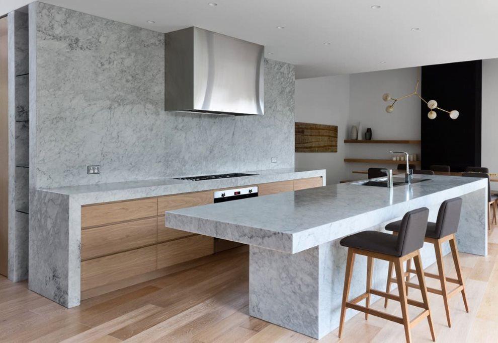 Архитектурный бетон в интерьере кухни
