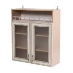 Двустворчатый кухонный модуль со стеклянными вставками
