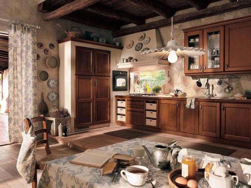Шоколадная кухня в стиле прованс