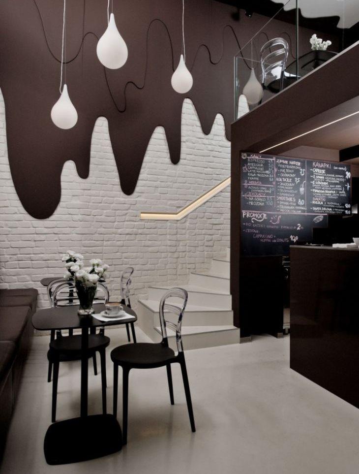 Современная кухня в шоколадном цвете