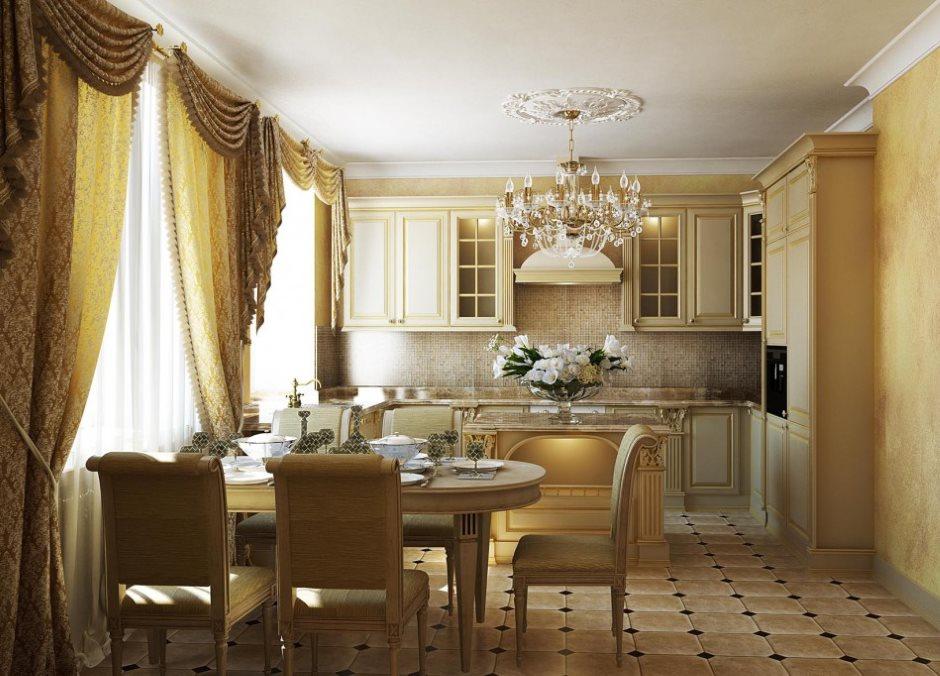 Подбор штор для кухни под цвет гарнитура