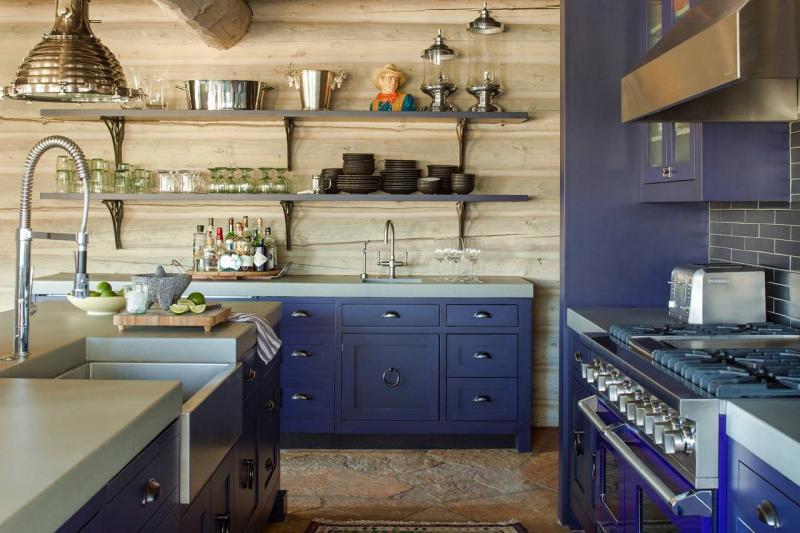 Синя кухня в современном стиле