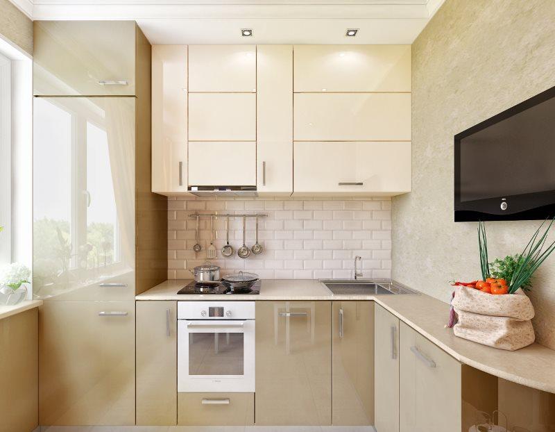 Угловой гарнитур для современной кухни