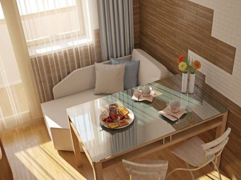 Кухонный стол со столешницей из закаленного стекла