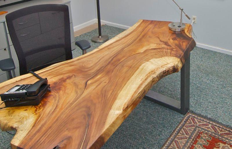 Столешница из массива дерева ручной работы