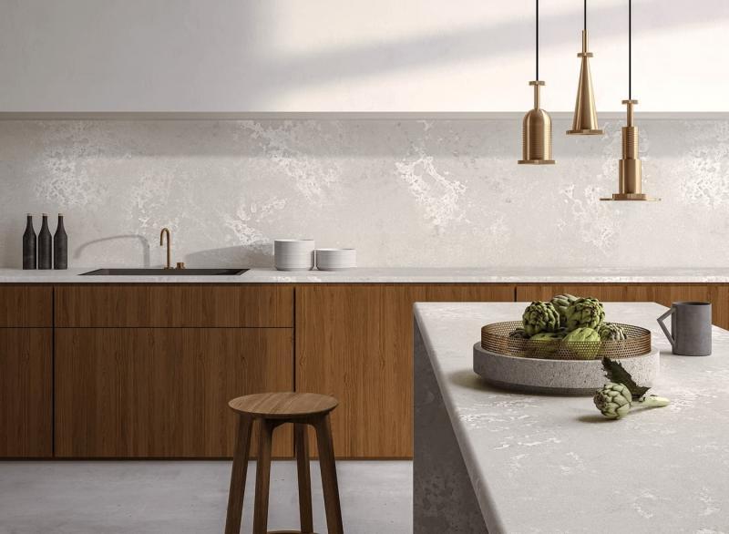 Кухонная мебель с бетонными столешницами