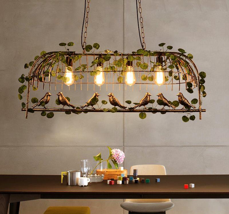 Дизайнерский светильник для кухни в стиле ретро