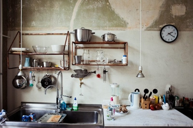 Дизайн простых светильников для кухни в стиле лофта
