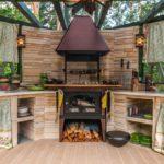 Дизайн летней кухни в стиле кантри