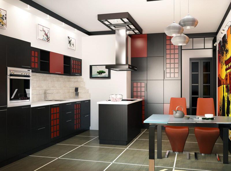Серое покрытие керамического пола кухни