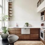 Деревянные фасады модной кухни