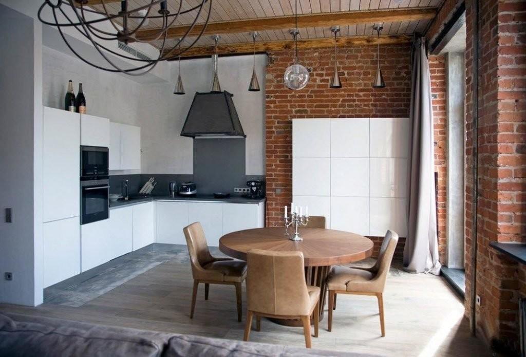 Дизайн угловой кухни 2019 года в индустриальном стиле