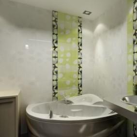 Глянцевые стены в ванной комнате