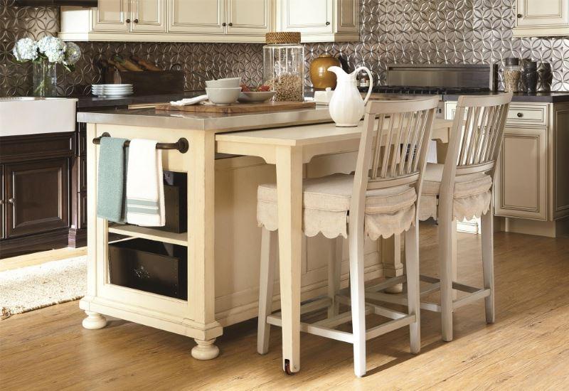 Комбинированный кухонный остров с дополнительной столешницей