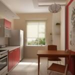 Линеыная планировка небольшой кухни