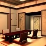 Дизайн обеденной зоны в японском стиле