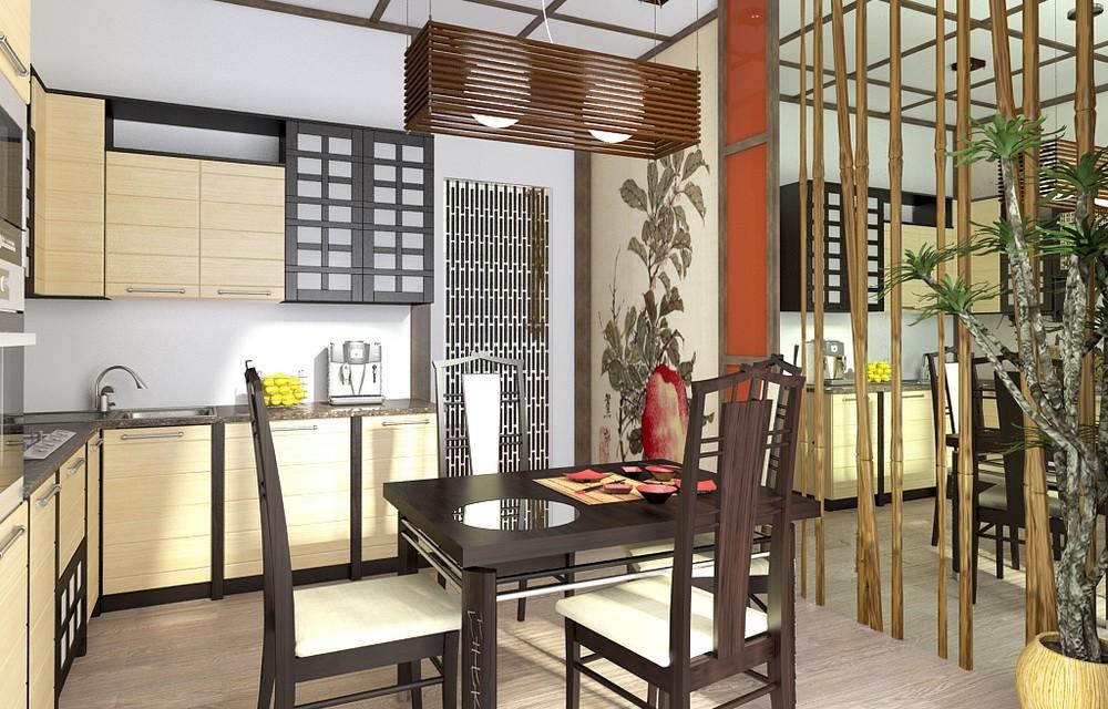 если есть кухни под бамбук дизайн фото дизайн