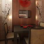 Квадратный стол темно-коричневого цвета