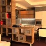 Современная кухня в японском доме