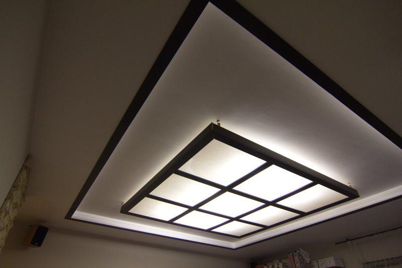 Подсветка потока кухни в японском стиле
