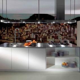 3д фотообои для кухни фото декор