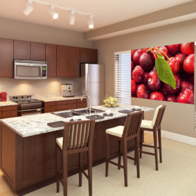 3д фотообои для кухни фото декора