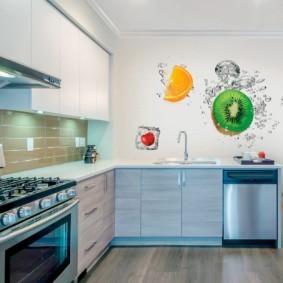 3д фотообои для кухни идеи оформления