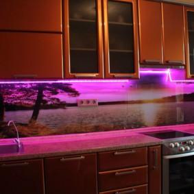 3д фотообои для кухни