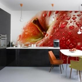 3д фотообои для кухни дизайн фото