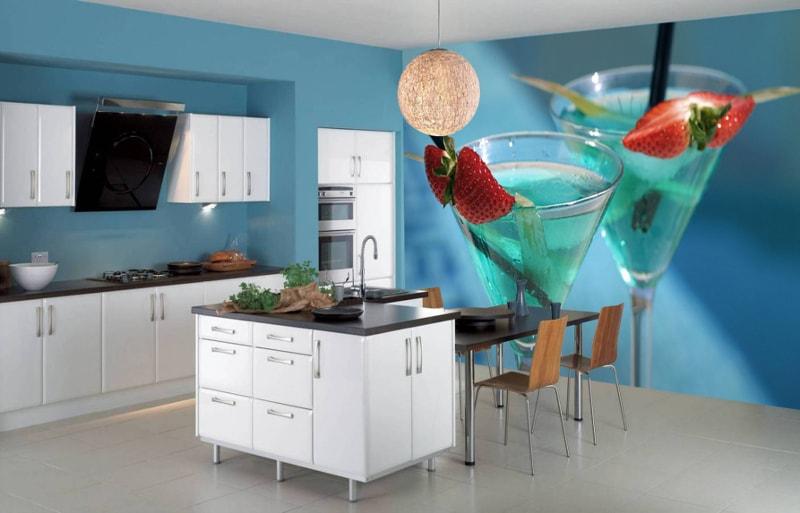 3д фотообои для кухни фото дизайна