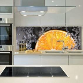 3д фотообои для кухни идеи дизайн