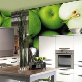 3д фотообои для кухни идеи дизайна