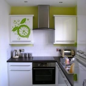 дизайн малогабаритной кухни фото декора