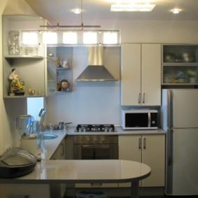 дизайн малогабаритной кухни фото обзор