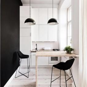минималистичный дизайн малогабаритной кухни