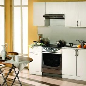дизайн малогабаритной кухни фото